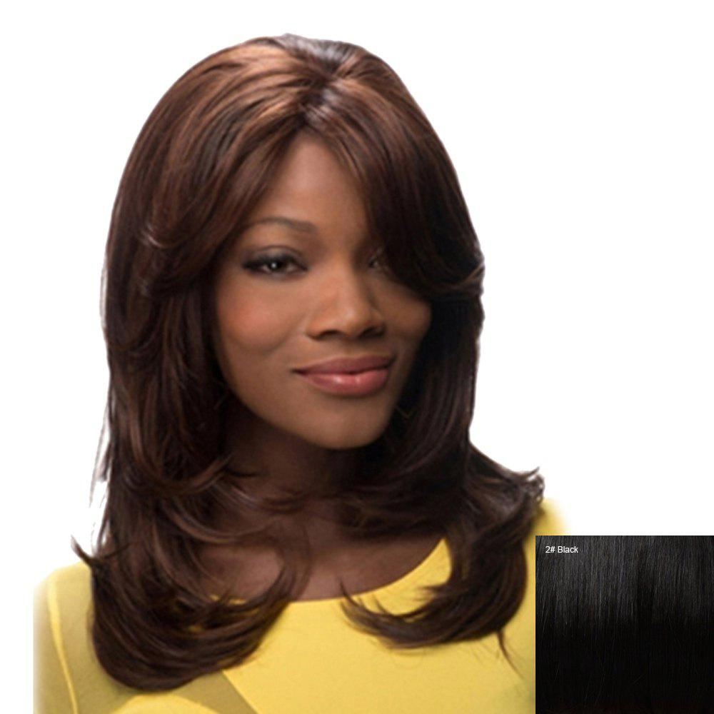 Women's Fashion Curly Side Bang Human Hair Wig