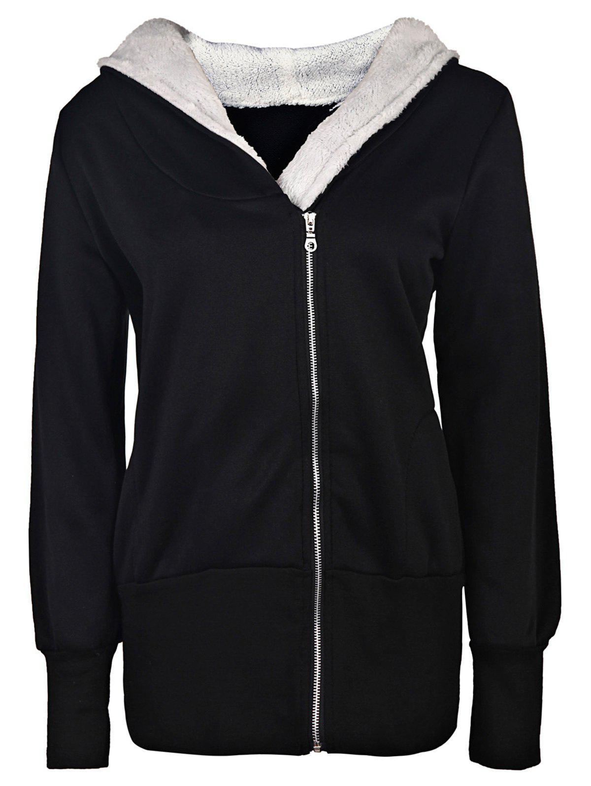 Casual Long Sleeve Hooded Women's Zip Up Hoodie casual long sleeve hooded women s zip up hoodie