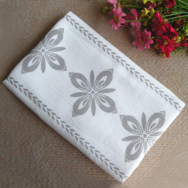 5Pcs/Pack 100% Cotton High Quality Macrobian Flower Pattern Large Towel - GRAY