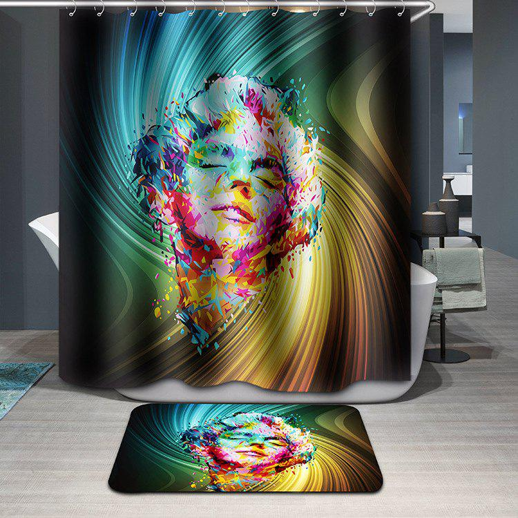 Modern Style Colorful Marilyn Monroe Pattern Waterproof Shower Curtain - COLORFUL