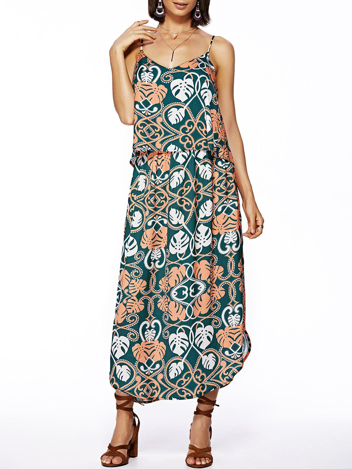 Bohemian Style Ethnic Print Spaghetti Strap Dress For Women