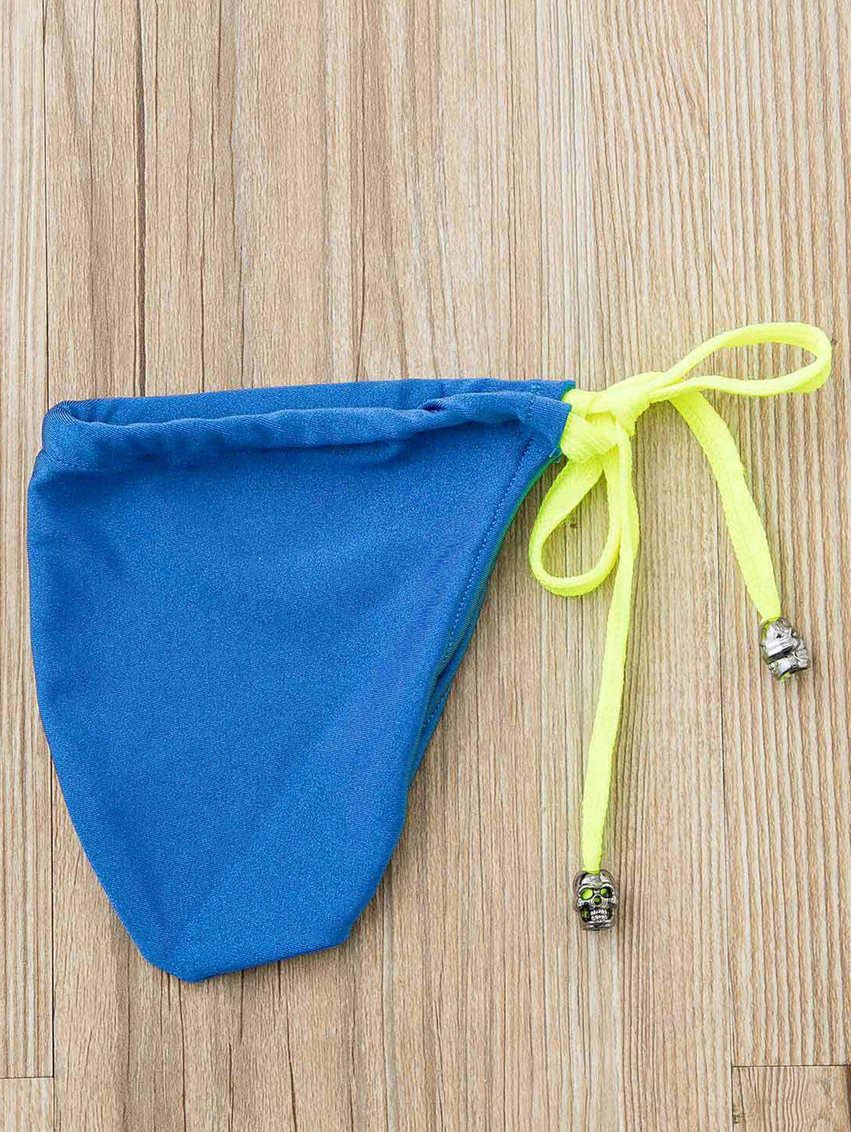 Pretty Sexy Solid Color Strapless Men's T-shaped Swimming Trunks