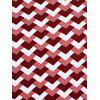 Casual Women's Round Neck Geometric Top - L RED