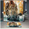 Novelty 3D Snow Leopard Printing Mould Proof Shower Curtain For Bathroom - COLORMIX