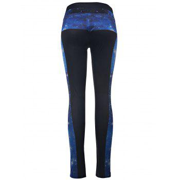 Stylish High-Waisted Slimming Printed Women's Yoga Pants - BLACK ONE SIZE(FIT SIZE XS TO M)