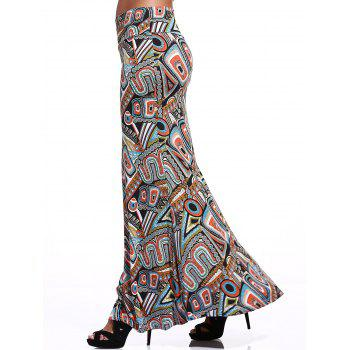 Women's Fashionable High Waist Skinny Printed Flare Skirt