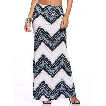 Chic Zigzag Print Over Hip Skirt For Women