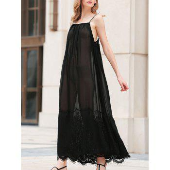 Alluring Solid Color Spaghetti Strap Laciness Women's Sundress
