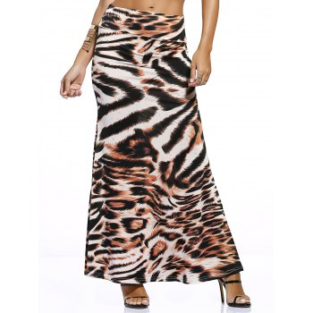 Novelty Maxi Tiger Print Skirt For Women