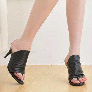 Fashionable Solid Colour and Stiletto Heel Design Women's Slippers - 42 42