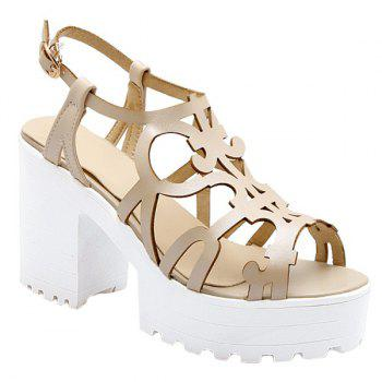 Stylish Hollow Out and Platform Design Women's Sandals