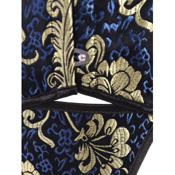 Vintage Lace-Up Printed Steel Boned Corset For Women - COLORMIX XL
