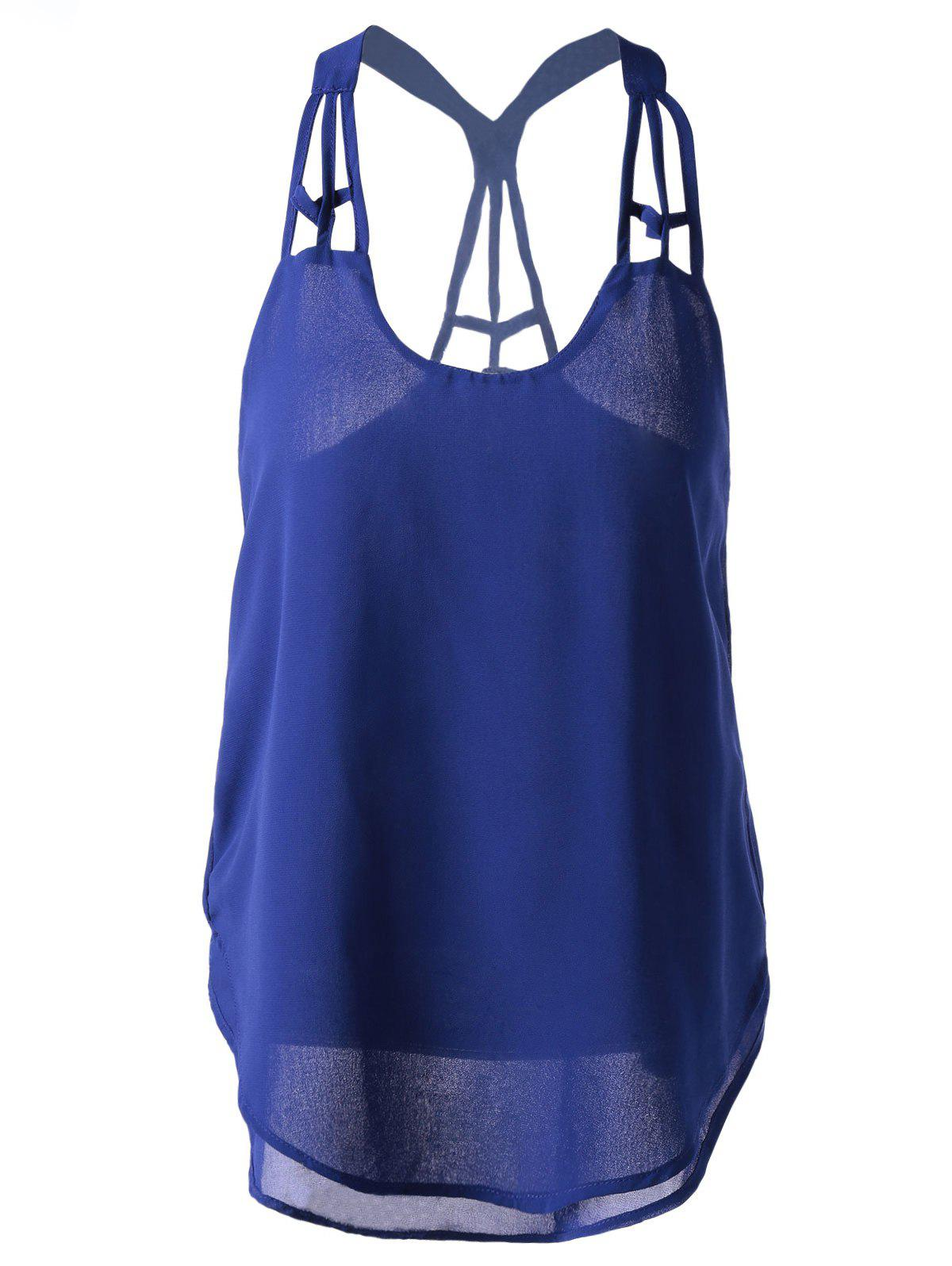 Stylish Loose-Fitting Tank Top For Women - SAPPHIRE BLUE ONE SIZE(FIT SIZE XS TO M)
