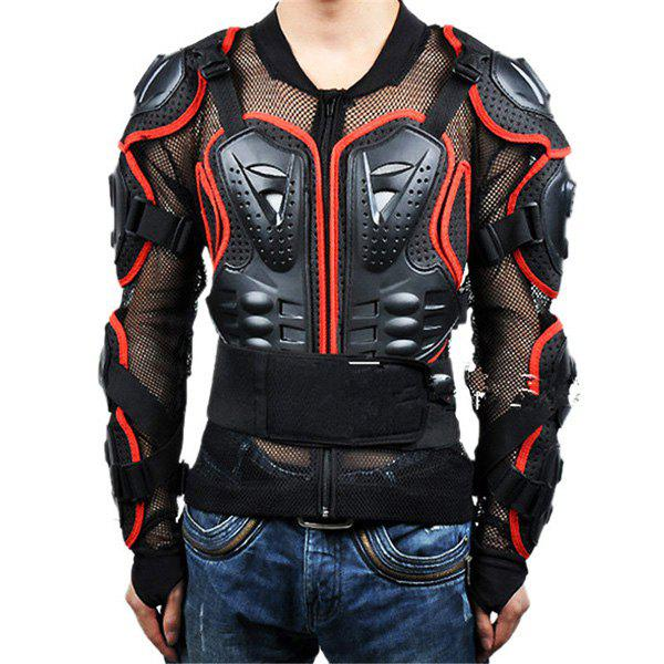 Hot Sale Black Safety Jackets Jerseys Men's Hockey Motorcycle Armor For Outdoor Sport - RED/BLACK XL