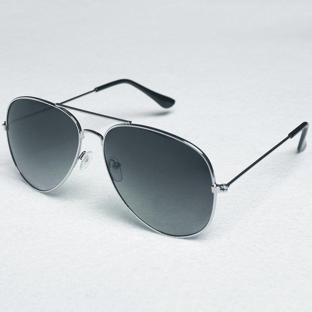 Chic Alloy Frame Candy Color Lenses Women's Pilot Sunglasses - DEEP GRAY