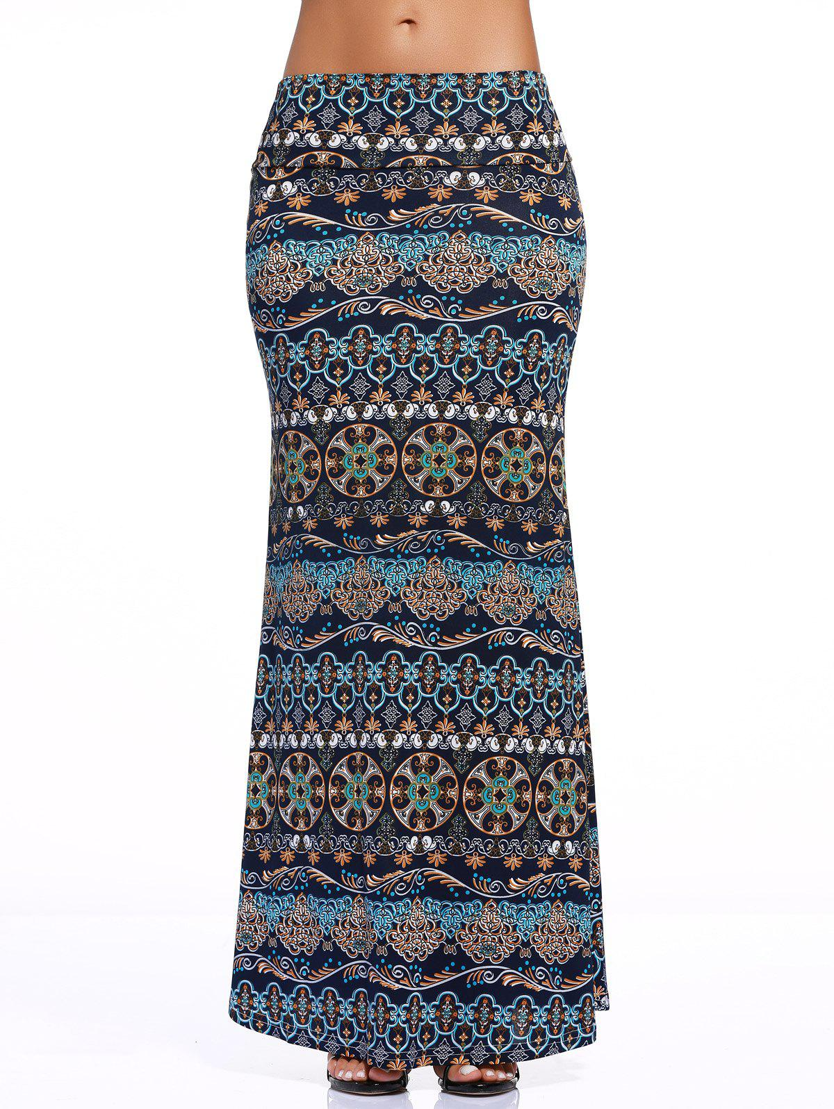 Chic Tribe Print Over Hip Skirt For WomenWomen<br><br><br>Size: 3XL<br>Color: COLORMIX