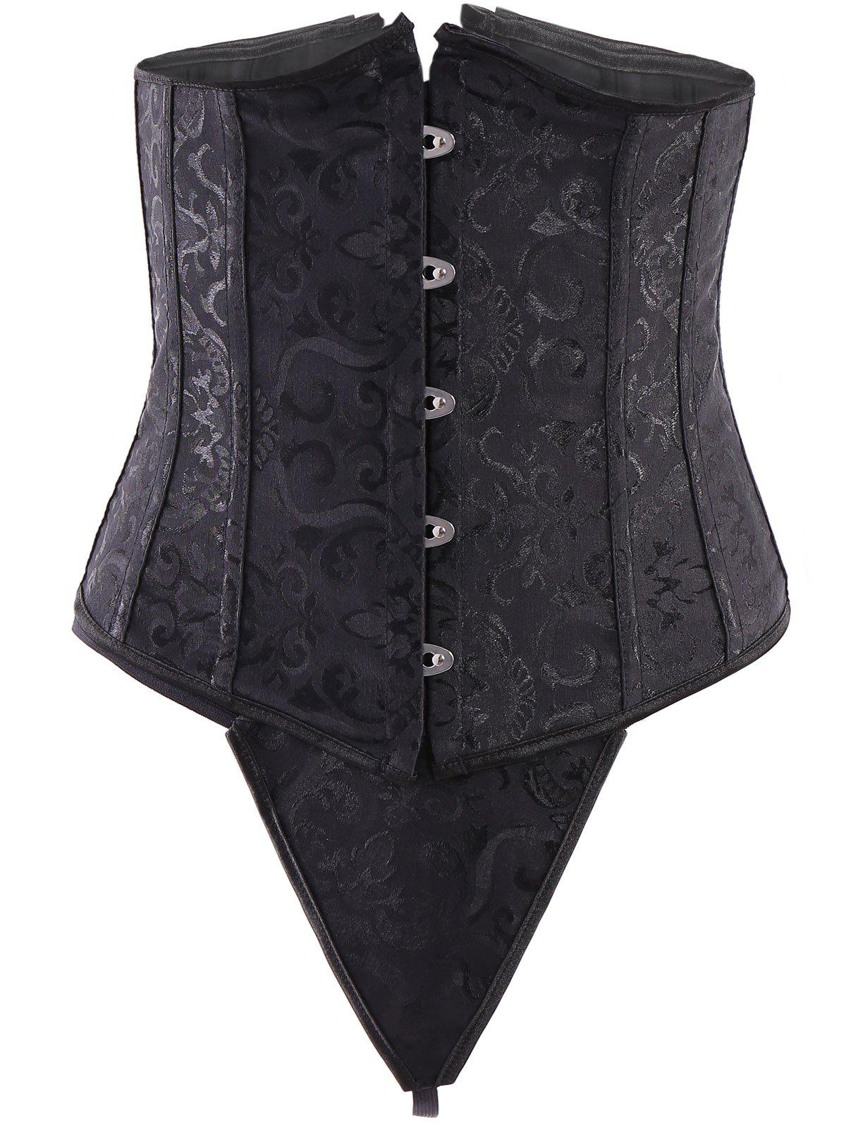 Alluring Lace-Up Solid Color Women's Waist Slimming Corset