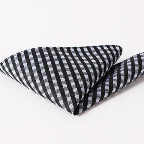 Fashion Checkered Pattern Wedding or Party Business Suit Pocket Square - BLACK