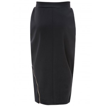Trendy Zipper Design High Waist Skirt - ONE SIZE(FIT SIZE XS TO M) ONE SIZE(FIT SIZE XS TO M)