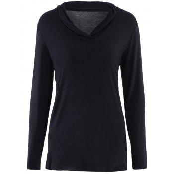 Elegant Long Sleeve Shawl Collar Solid Color Women's Knitwear