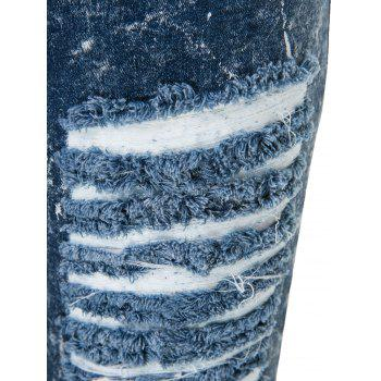 Stylish High-Waisted Skinny Frayed Ripped Women's Jeans - 2XL 2XL