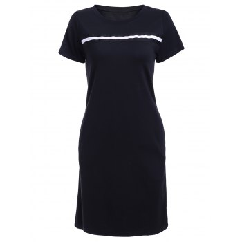 Women's Graceful Appliques Shift Dress