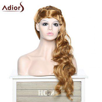Fashion Women's Adiors Braided Curly Synthetic Wig - GOLDEN BLONDE