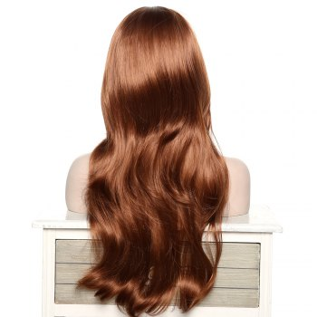 Women's Stylish Adiors Long Curly Side Bang Synthetic Wig - BROWN
