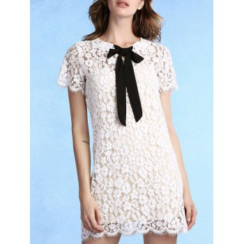 Sweet Cami Top + Bow Tie Neck Lace Dress Women's Twinset