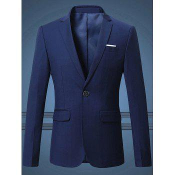 Men's Plus Size One Button Solid Color Lapel Long Sleeves Blazer