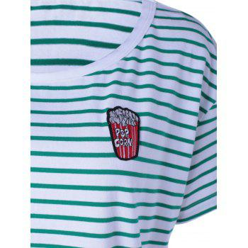 Contracted Stripe T For Women - WHITE/GREEN WHITE/GREEN
