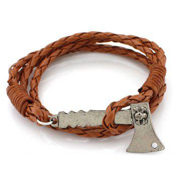 Axe Layered PU Leather Bracelet