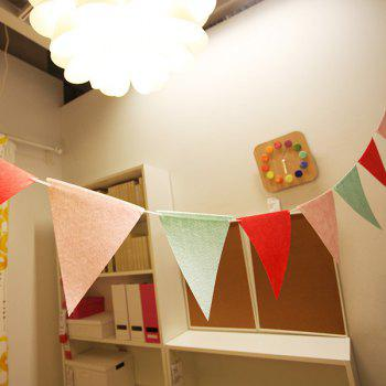 Fashion 9PCS Non-Woven Fabric Colorful Triangle Shape Party Flag - COLORMIX COLORMIX