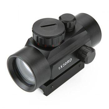 1X30RD Flashlight Direct Optical Aiming Monocular Telescope For Outdoor Hunting -  BLACK