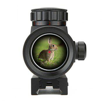 1X30RD Flashlight Direct Optical Aiming Monocular Telescope For Outdoor Hunting - BLACK BLACK