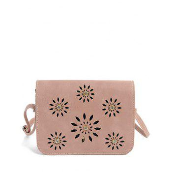 Trendy Hollow Out and PU Leather Design Crossbody Bag For Women