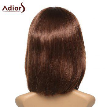 Women's Stylish Adiors Straight Full Bang Synthetic Wig - COLORMIX