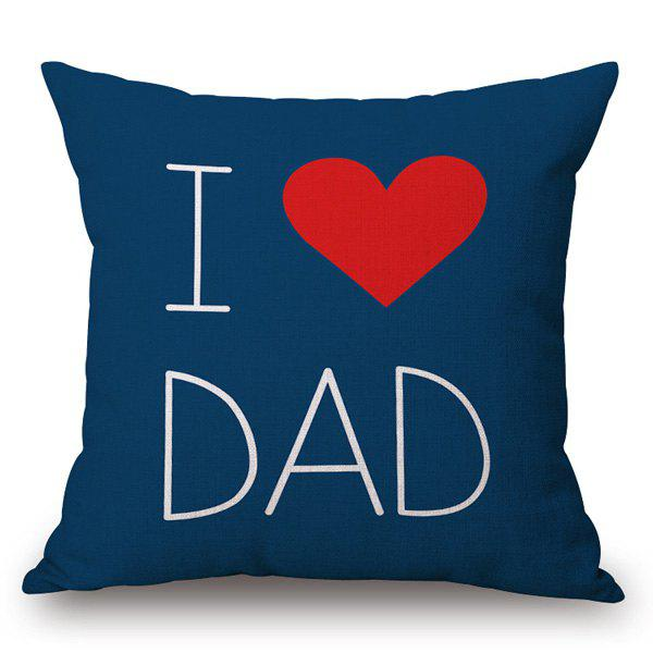 Artistic I Love Dad Pattern Square Shape Pillowcase - CADETBLUE