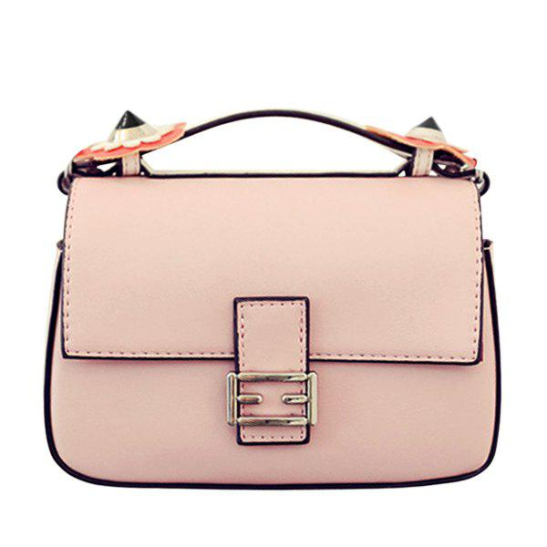 Stylish Floral and Color Block Design Women's Tote Bag - PINK