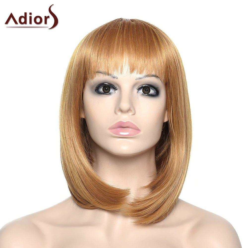 Women's Stylish Adiors Full Bang Straight Synthetic Wig - COLORMIX