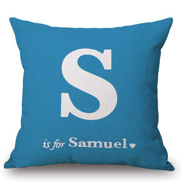 Creative English Letter Pattern Square Shape Pillowcase