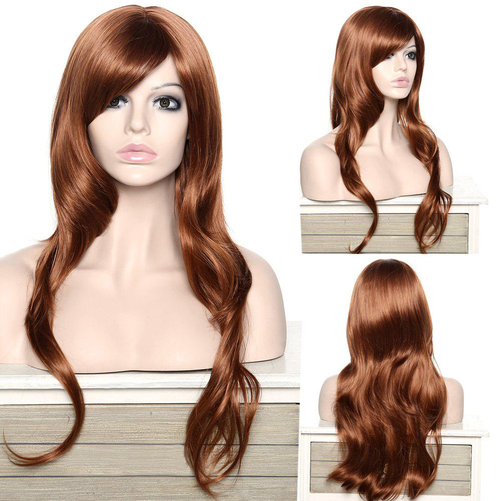 Women's Stylish Adiors Long Curly Side Bang Synthetic Wig
