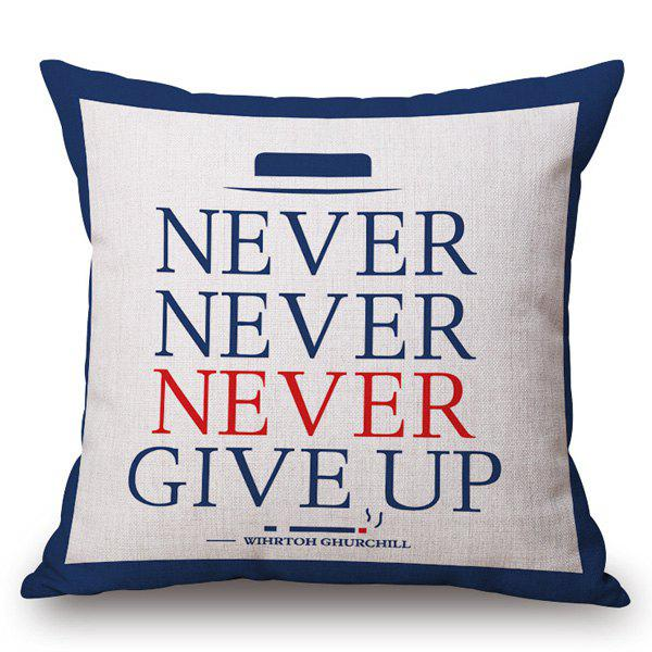 Simple English Letter Pattern Square Shape PillowcaseHome<br><br><br>Color: RED AND WHITE AND BLUE