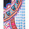Bohemian 3/4 Sleeve Plunging Neck Tribal Print Women's Dress - BLACK ONE SIZE(FIT SIZE XS TO M)