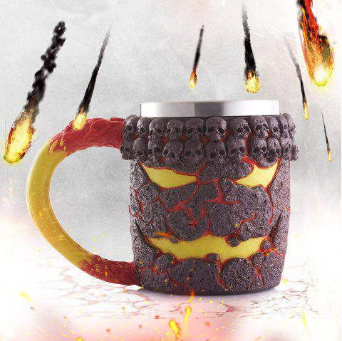 15OZ Halloween Magma Monstre Motif Beer Cup Pour Bar Festive Décoration - Bronze