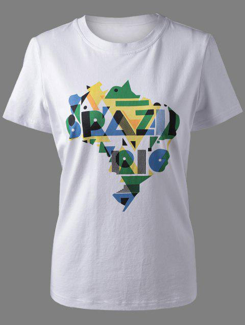 9ad72af6b3 17% OFF  2019 Trendy Amazon Rive Print T-Shirt For Women In WHITE XL ...
