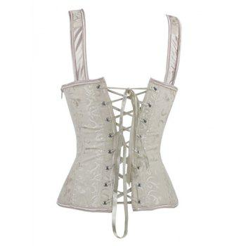 Lace Up V Neck Corset - M M