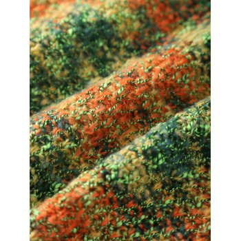 Chic Quality Mixed Color Knitted Mermaid Tail Design Blankets -  GREEN