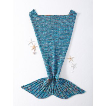 Stylish Crocheted Knitted Fish Scale Tail Shape Blankets