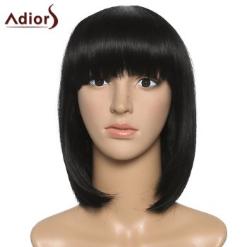 Women's Fashion Full Bang Adiors Synthetic Medium Bob Wig